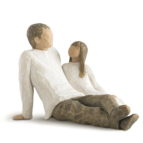 (Willow Tree Father and Daughter, sculpted hand-painted figure)