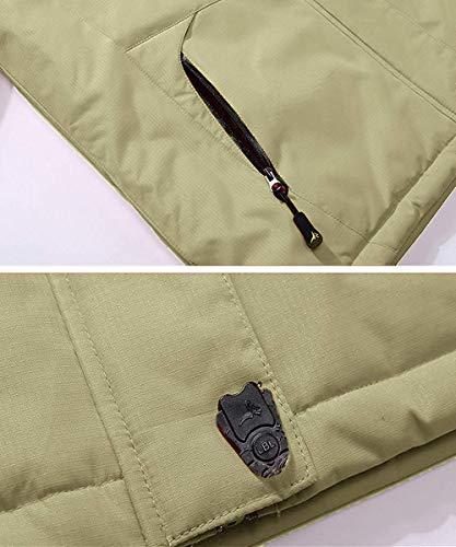26839a3ca7 Pooluly Men s Waterproof Windproof Rain Snow Jacket Hooded Fleece Ski Coat