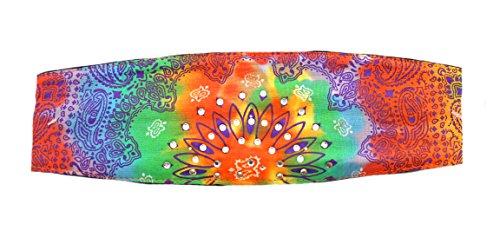 Woodstock Style Tie Dye Peace Chop Top Biker Doo Wrap Bandanna