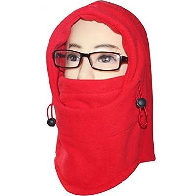 FUYI Women's Windbreak Warm Fleece Neck Hat Winter Ski Full Face Mask Cover Cap