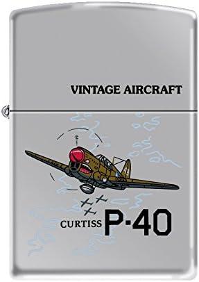 Zippo Vintage Aircraft Curtiss P.40 High Polished Chrome 518