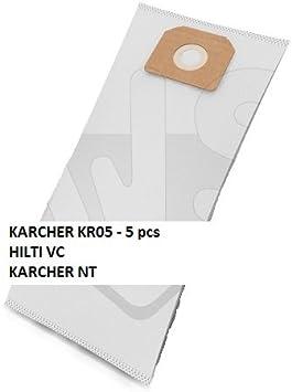 Bolsas de polvo Aspirador BOLSA MICRO-KR05 adecuada HILTI VC, KARCHER NT 200, NT 301 KARCHER, NT 40/1 KARCHER, KARCHER NT 45/1, 55/1 NT KARCHER, KARCHER NT 561, NT 611 KARCHER, KARCHER NT