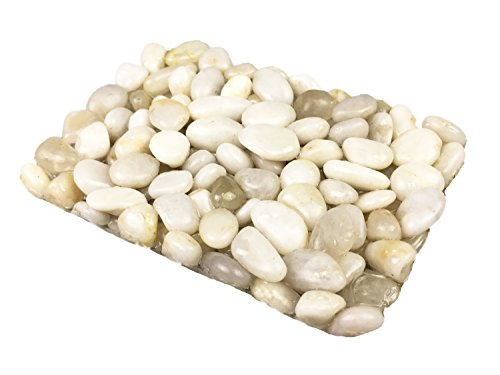 Stone Pebbles Soap Dish for Shower and Bathroom, Natural Stone Soap Holder to Keep the Soap Dry