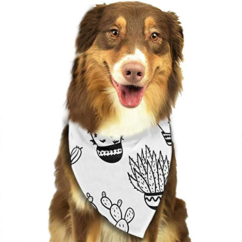 (Pet Scarf Dog Bandana Bibs Triangle Head Scarfs Drawing Cactus Accessories for Cats Baby)