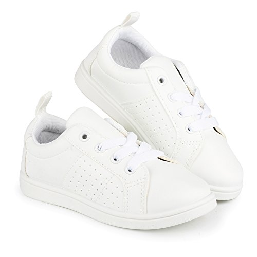 Pictures of Chillipop White Fashionable SneakersGirls Tennis Shoes 12 M US Little Kid 3