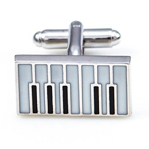 MRCUFF Piano Keys Pair Cufflinks in a Presentation Gift Box & Polishing Cloth