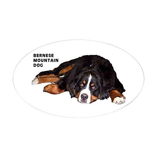 CafePress Bernese Mountain Dog - Oval Sticker Oval Bumper Sticker, Euro Oval Car ()