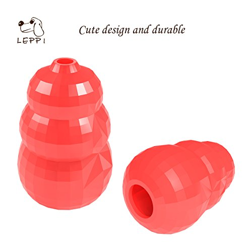 Aggressive-Chewer-Dog-Toys-Tough-Rubber-Treat-IQ-Calabash-Toy-with-Diamond-Shaped-Surface-Red