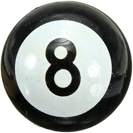 """8 ピース/セット車バイク suv ホイール """"プール 8 ボール"""" キャップ ボルト ire エア ダスト バルブ ステ ム キャップ リム"""