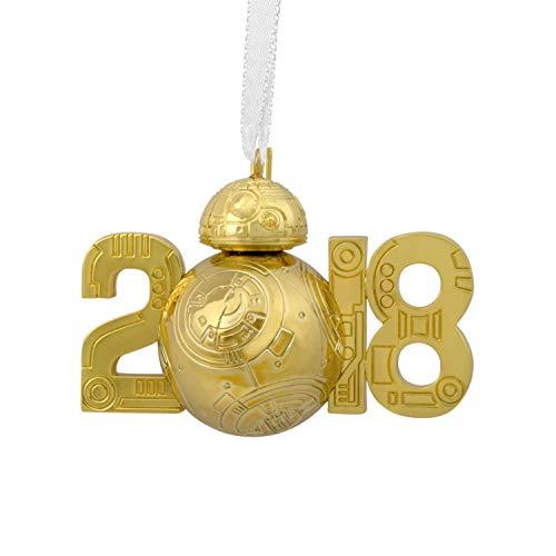 HMK Hallmark 2018 Premium Gold BB-8 Star Wars Disney Ornament (Star Disney)