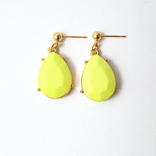 Chartreuse Faceted Stone Teardrop Earrin - 18k Braid Ring Shopping Results