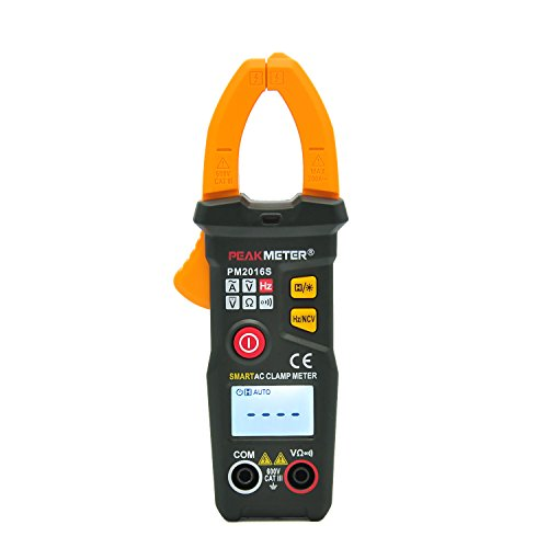 AutoRanging Clamp Meter,Peakmeter PM2016S Digital LCD AC DC Current Clamp Meter Auto Range Multimeter Frequency Capacitance Meter Tester