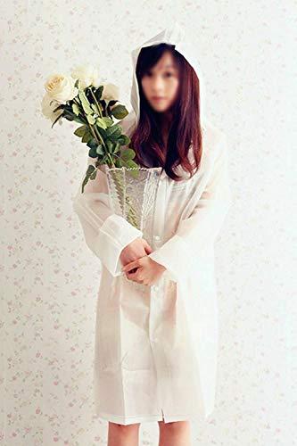 Transparente Chic Ligero Liso Ropa Para Cordón Mujer Impermeable Moda Con Gabardina Blanco Color qnZxwvtWT