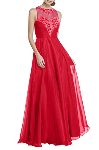 Perlen Partykleider Rot Charmant Festlich Damen Chiffon Linie Rock A Lang Abendkleider Brautmutterkleider Pailletten x7YtHw7