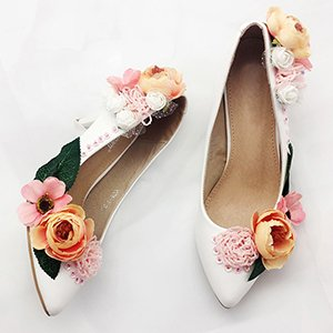 VIVIOO Shallow Banquet Fine Pointed High Sequins Shoes Shoes Flowers 5 Beautiful Bridal Women'S Dresses Heels 5 Eveing Pumps Sandals Toasts Heel Heel 7Cm Prom rwCaqr
