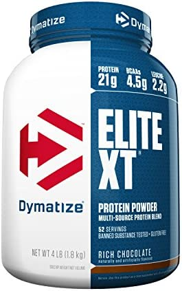 Dymatize Elite XT Extended Release Whey Casein Protein, Rich Chocolate, 4 Pound