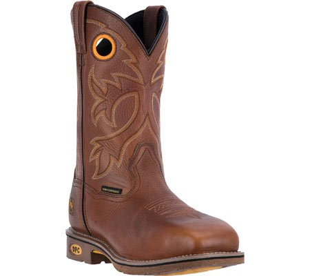 Dan Post Mens Bismark Cowboy Stivali Da Lavoro In Acciaio Impermeabile Punta, Cinnamon In Pelle