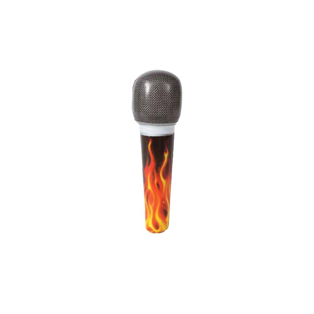 Unique Party 90658 - Micrófono de estrella de rock inflable ...