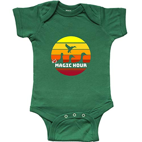 inktastic It's Magic Hour with Waterfowl Infant Creeper 12 Months Kelly Green (Best Christmas Gift For A Duck Hunter)