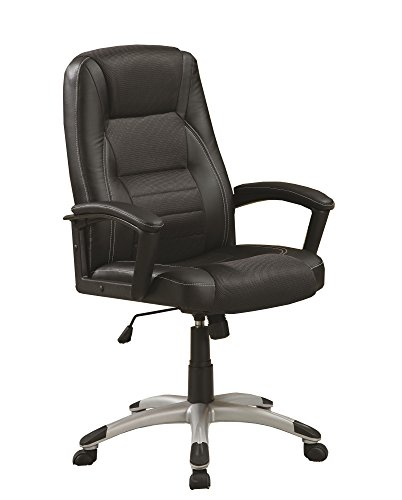 Coaster Home Furnishings Adjustable Height Office Chair Black and Silver -