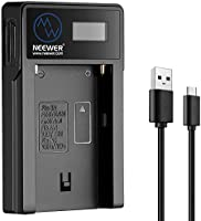 Neewer Replacement Micro USB Camera Battery Charger for Sony NP-F550/F750/F960/F970