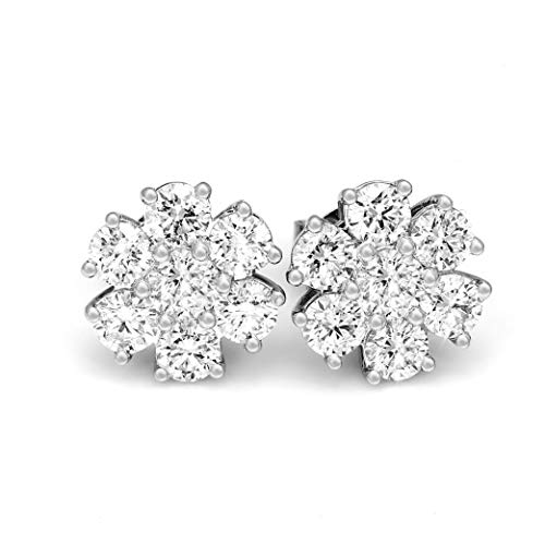 100 Pure Diamond Earrings Cluster Earrings 1 4ct to 2 3 8 ct IGI Certified Lab Grown Diamond Earring For Women Lab Created Diamond Earrings SI-GH 10K Real Diamond Earring Diamond Jewelry Gifts