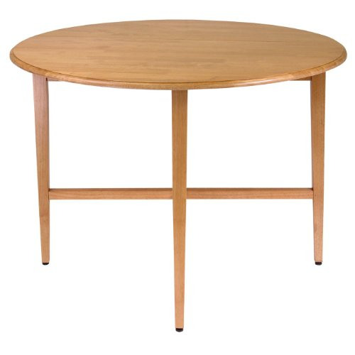 Winsome Wood 42-Inch Round Drop Leaf Table - Round Double Drop Leaf