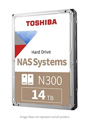 Toshiba N300 14TB NAS 3.5-Inch Internal Hard Drive - CMR SATA 6 GB/s 7200 RPM 256 MB Cache - HDWG21EXZSTA