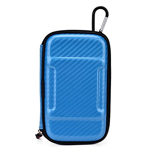 Vape & Mod Portable Travel Case Compatible with JoyeTech eGo |Semi-hard Protective Shell with Standing Capability & Carabiner Hook for Easy Attachment|Glossy Skywalker Blue & Pink Camo