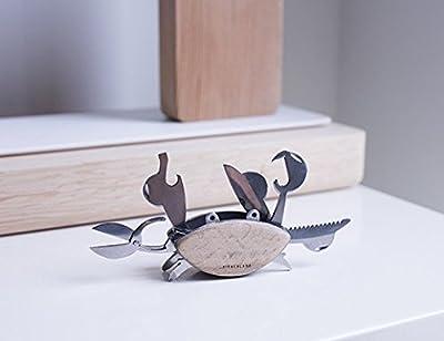 Kikkerland Crab Multi Tool 9-in-1 Tool