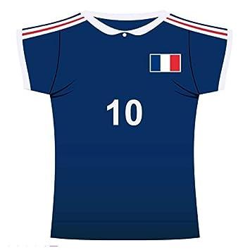 Decor camiseta de fútbol Francia de cartón 31 x33 cm