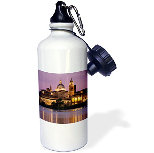 3dRose wb_82225_1 ''Italy, Mantua, Palazzo Ducale, Lago Inferiore EU16 WBI2390 Walter Bibikow'' Sports Water Bottle, 21 oz, White by 3dRose