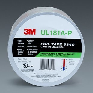 3M Foil Tape 3340, 72 mm x 45.7 m, 4.0 mil, Silver