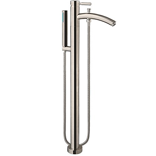 Wyndham Collection Taron Modern-Style Bathroom Tub Filler (Floor-mounted) in Brushed Nickel by Wyndham Collection