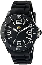 40Nine Unisex 40NINE02/BLACK1 Large 45mm Analog Display Japanese Quartz Black Watch