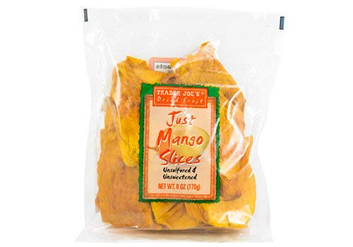 Trader Joe's Just Mango Slices Unsulfured, Unsweetened Dried Fruit – 6 oz.