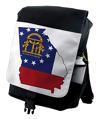 Lunarable Georgia Backpack, Peach State Map Outline, Durable All-Purpose Bag