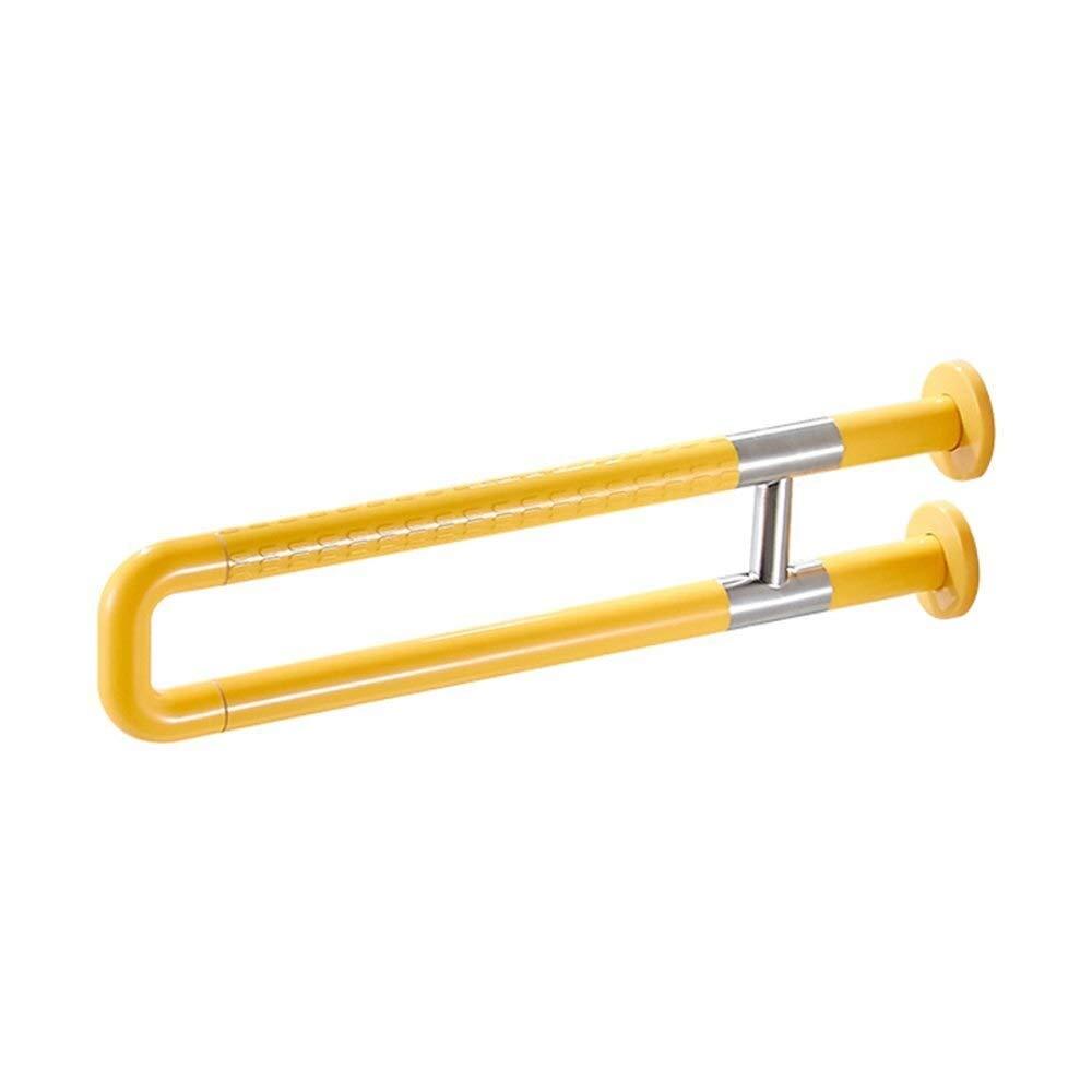 JYJgrab bar JYJ-Shower Non-Slip Handrail Toilet Safety Support Armrests Toilet Bathroom Elderly Disabled Grab Bar Balance Grab Bar (Color : Yellow)