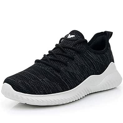 JARLIF Men's Memory Foam Slip On Walking Tennis Shoes Lightweight Gym Jogging Sports Athletic Running Sneakers Darkgrey 7 D(M) US