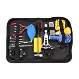 21PCS Professional Watch Repair Tool Kit Magnifier Case Holder Band Holder Band Link Pin Remover Set With Storage Bag