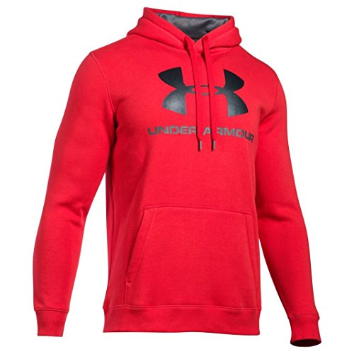 Under Armour Rival Fitted Graphic Hoody, Uomo, Rival Fitted Graphic, Red,XS