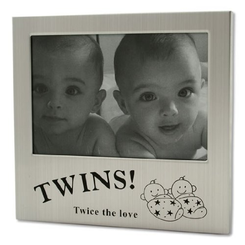 Silver Twice the Love Twins Photo Frame by Shudehill Giftware by Global Baby
