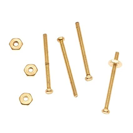 Nunn Design Brass 3/4 Inch Hex Micro Screw and Nut Set 1 5mm Wide (4)