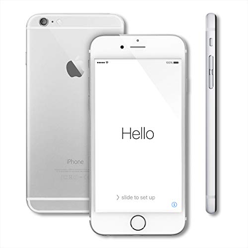 - Apple iPhone 6, GSM Unlocked, 128GB - Silver (Renewed)