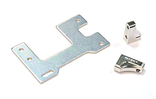 Integy RC Model Hop-ups C25844SILVER Billet Machined Servo Mount Set for Custom 1/14 Semi-Tractor (Servo Mount Set)