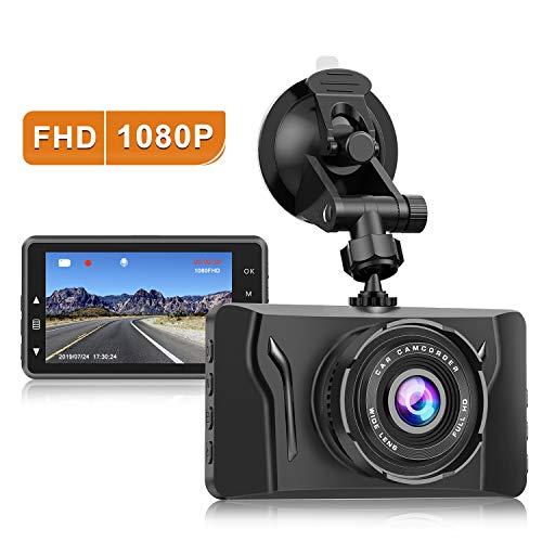 Dash Cam for Cars 1080P FHD Car Dash Camera CHORTAU 2019 New Version Car Camera Recorder 3.2Inch Screen Dashboard Camera with 170°Wide Angle, Super Night Version, WDR, Loop Recording, Parking Monitor