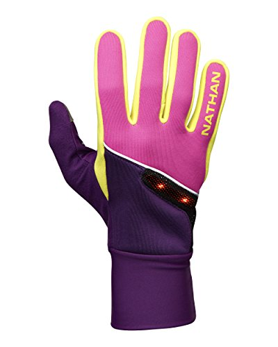 Nathan Thermal (Nathan Speed Shift Gloves, Floro Fuchsia/Imperial Purple/Celeste Yellow, Medium)