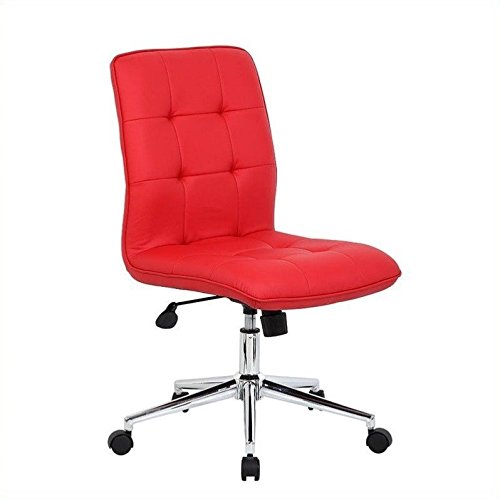 Conference Chair Meeting (Boss Office Products B330-BK Mellennial Modern Home Office Chair without Arms in Black)