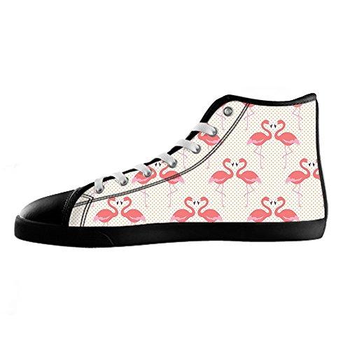 Flamingo Delle In Shoes Sopra Alto Da Ginnastica Men's Custom Modello Le Scarpe Canvas Tela Di Lacci I 0WR5Aqg