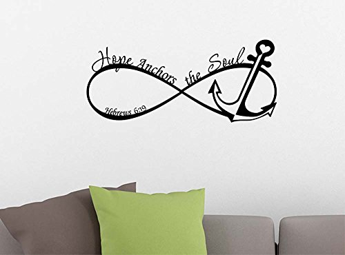 Cheap  Infinity Hope Anchors the Soul Hebrews 6:19 religious inspirational love vinyl quote..